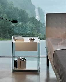 comodino vetro comodino milo fiam design ilaria marelli magnolo