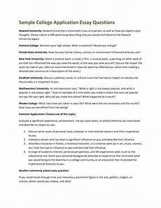 Sample College Application Essay 17 College Application Essay Examples Application