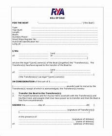 Bill Of Sale Example 5 Boat Bill Of Sale Free Sample Example Format Free