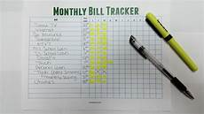 Bill Tracker Stay On Top Of Your Monthly Bills Free Monthly Bill