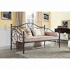 daybed frame metal sofa day bed guest sleeper bronze