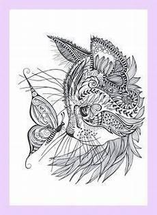 Ausmalbilder Katze Mandala Cat Coloring Page Mandalas And Mantras Cat C