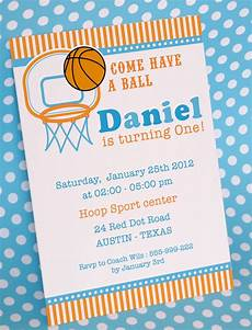 Invitation Cards For Party Diy Printable Invitation Card Basketball Birthday Party