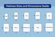 Standard Bed Sizes Chart Mattress Sizes Chart And Bed Dimensions Guide Amerisleep