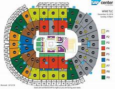 Wwe Dallas Seating Chart Wwe Tables Ladders Amp Chairs Sap Center