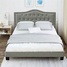 clearance platform bed frame with headboard modern