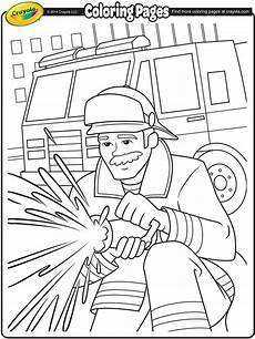 firefighter coloring page crayola