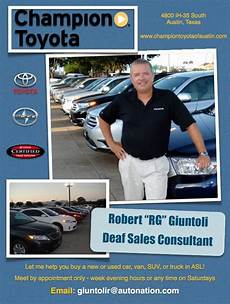 Car Sale Flyer New And Used Cars Trucks Deaf Sales Consultant Deaf