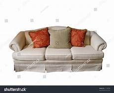 Overstuffed Sofa 3d Image by Overstuffed Sofa Covered Offwhite Fabric Two Stock Photo