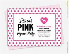 Pink Party Invitations Victorias Secret Pink Polka Dots Theme Party Invitation