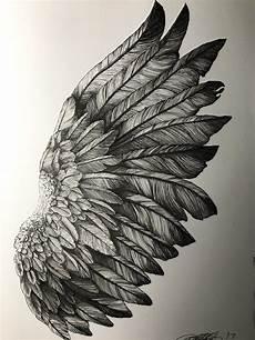 Drawing Of Angel Wings Pin By Omnipop Mag On Omnipop Pins Wings Sketch Wings