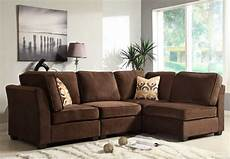 homelegance burke sectional sofa set a brown fabric