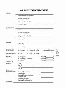 Sample Contract Forms Free 7 Contract Review Form In Samples Examples Format