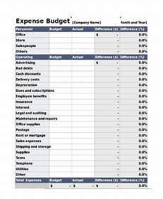 Budget And Expenses Free 11 Sample Expense Sheet Templates In Pdf Excel