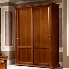 treviso ornate cherry wood 2 door sliding wardrobe f d