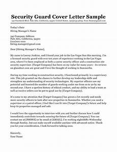 Cover Letter For Security Position Security Guard Cover Letter Sample Amp Tips Resume Companion