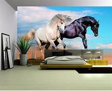 Horses Sofa 3d Image 3d wallpaper custom photo mural living room black