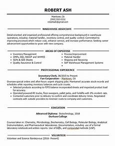 Warehouse Associate Resume Samples Warehouse Associate Resume Example Inventory Shipping