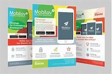 Make Flyers App Colourful Mobile App Flyer Flyer Templates Creative Market