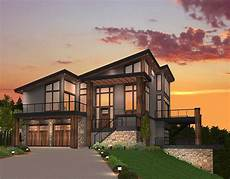 Modern Villa Exclusive Trendsetting Modern House Plan 85147ms