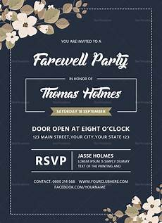 Invitation Card For Farewell Party To Seniors Farewell Party Invitation Card Design Template In Word