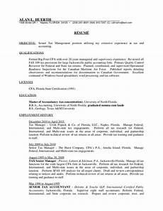 Big 4 Resume Sample Senior Tax Manager Resume
