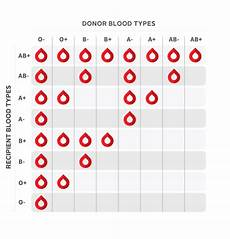 Positive And Negative Blood Type Chart Blood Donation Coolguides