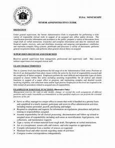 Administrative Clerk Duties Senior Admin Clerk Job Description By Sfha Issuu