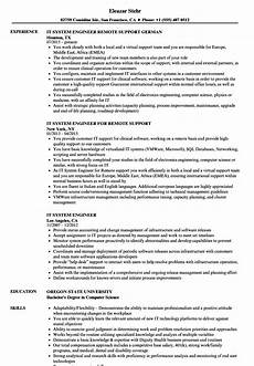Systems Engineer Resume It System Engineer Resume Samples Velvet Jobs