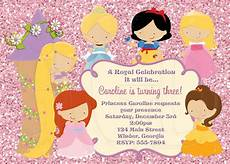 Princess Disney Invitations Princess Invitation Disney Inspired Digital File