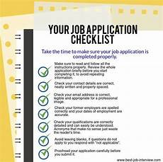 Tips For Filling Out Applications Best Job Application Tips