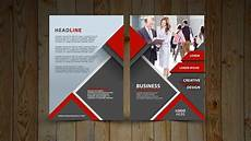 Two One Two Design Two Fold Brochure Design In Photoshop Cc Tutorial Red