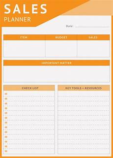 Daily Sales Planner Template 4 Daily Sales Planner Templates Free Sample Example