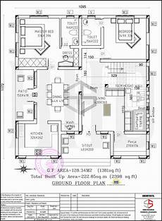 Floor Plan And Elevation Floor Plan And Elevation Of 2398 Sq Ft Contemporary Villa