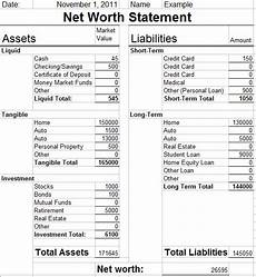Net Worth Statement Format For Individual Friday Finances Net Worth Statement Frugal Family Table