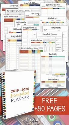Free Printable School Planner Free Homeschool Planner 2019 2020 Blessed Learners