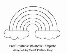 Rainbow Printable Template Rainbow Template Printable Activity Printables