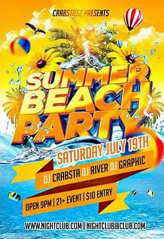 Beach Party Flyer Template Free Summer Beach Party Flyer Template Best Psd Club Party