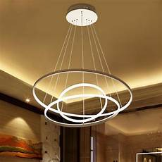 Circular Led Light Modern Circular Ring Pendant Light Acrylic Aluminum Led