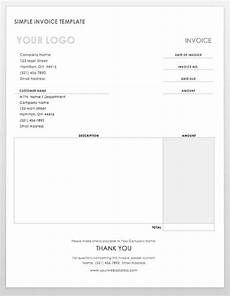 Simple Free Invoice Template Word Free Ms Word Invoices Templates Smartsheet
