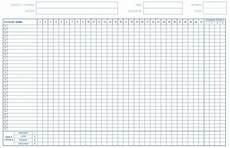 Student Attendance Template Printable 11 Free Sample School Attendance Sheet Templates