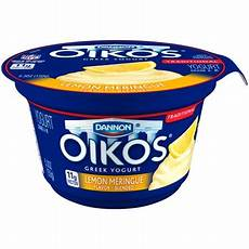 Dannon Light And Fit Greek Lemon Meringue Oikos Lemon Meringue Whole Milk Greek Yogurt 5 3 Oz