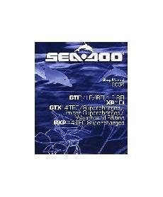 2004 Sea Doo Gti Xp Di Gtx 4 Tech And Rxp 4 Tech Series
