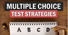 Multiple Choice How To Improve Your Grades On Multiple Choice Tests