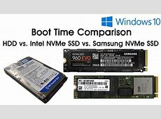 Boot Time Comparison   WD Hard Disk vs. Intel M.2 SSD vs