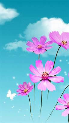 iphone wallpaper nature flowers dreamy beautiful galsang flower cloudy sky iphone 6