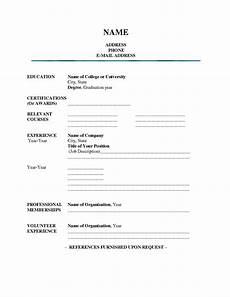 A Blank Resume Blank Resume Template E Commercewordpress