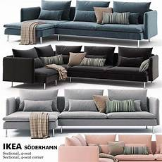 Tiny Sofa 3d Image by Corner Sofas Ikea Soderhamn 3d Model Furniture In 2019