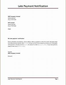 Late Payment Letter Sample Late Payment Notification Templates Word Excel Templates