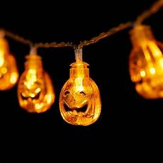 Jack O Lantern Lights Battery Halloween Pumpkin String Lights 20 Leds 8 2ft Battery